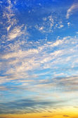 Sky with clouds on sunset — Stock Photo