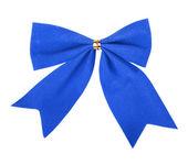 Beautiful blue gift bow — Stock Photo