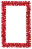 Tinsel frame isolated on white — Stock Photo