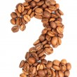 Number from coffee beans — Stock Photo #47457939
