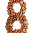 Number from coffee beans — Stock Photo #47457953
