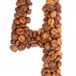 Number from coffee beans — Stock Photo #47457985