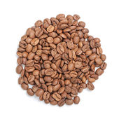 Roasted coffee beans pile — Stock Photo
