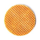 Round ruddy waffle — Stock Photo