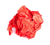 Screwed up piece of red paper — Stock Photo