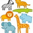 Stock Vector: Wild animals