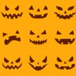 Pumpkin carving — Vector de stock