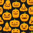 Pumpkin pattern — Stockvektor