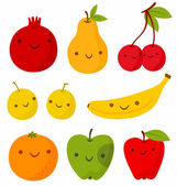 Funny fruits — Stock Vector