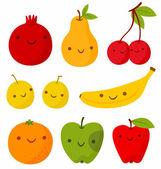 Frutas divertidas — Vector de stock