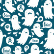 Ghost pattern — Stock Vector