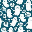 Stock Vector: Ghost pattern