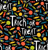 Trick-or-treat pattern — Stock Vector