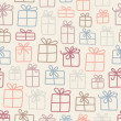 Gifts pattern - Stockvectorbeeld