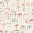 Gifts pattern - Stock vektor