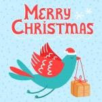 Merry Christmas bird — Stock Vector