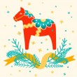 Dala horse — Stock Vector
