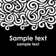 Template with swirls - Stock Vector