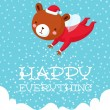 Happy everything — Stock Vector