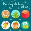 Holiday stickers set 2 — Stock Vector