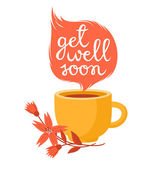 Get well soon — Stock Vector