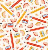 Pencils pattern — Stock Vector