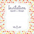 Stock Vector: Invitation template