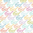 Glasses pattern - Stock Vector