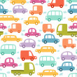 Stock Vector: Cars pattern