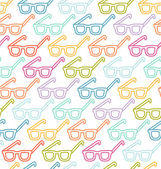 Glasses pattern — Stock Vector