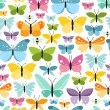 Butterflies pattern — Stock Vector
