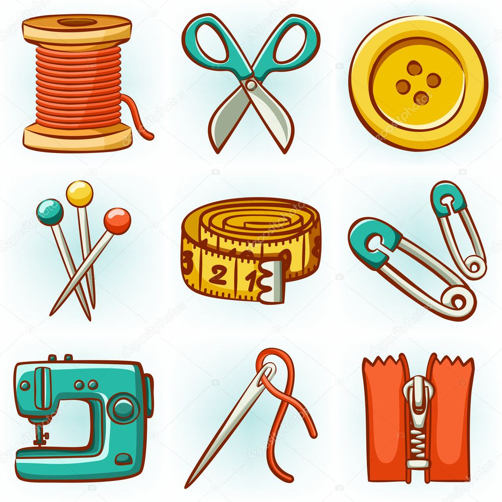 Set de costura vector de stock stolenpencil 21618901 - Set de costura ...