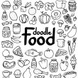 Food doodle — Stockvectorbeeld