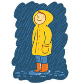 Rainy day — Stock Vector