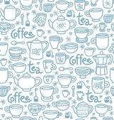 Tea and coffee pattern — Stock Vector