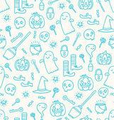 Patrón de doodle de halloween — Vector de stock