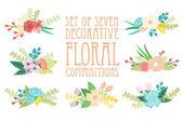 çiçek kompozisyonlar — Stok Vektör