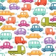 Cars doodles pattern — Stock Vector