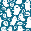Ghosts pattern — Stock Vector