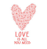 Love is all you need — Vector de stock