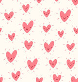 Doodle hearts pattern — Stock Vector