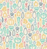 Vintage vegetables pattern — Stock Vector