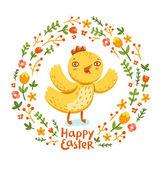 Happy Easter nestling — Stock Vector