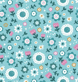 Simple floral pattern — Stock Vector