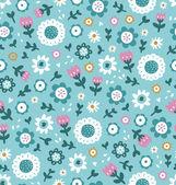 Simple patrón floral — Vector de stock