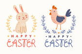 Happy Easter graphic — Stock Vector