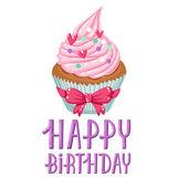 день рождения кекс — Cтоковый вектор