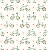 Cartoon bicycles pattern — Vector de stock