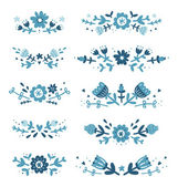 Decorative floral compositions set 2 — Stockvektor