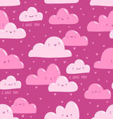 Pink clouds pattern — Stock vektor